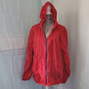 ☔ Red Hooded Raincoat ☔